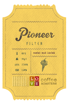 Love Coffee - Pioneer Kaffebönor - 250g